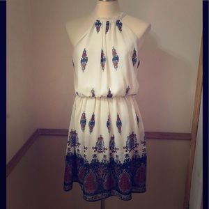 Beautiful White/paisley dress